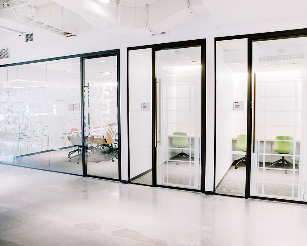 Office Rooms with Shoji Films on Glass Doors