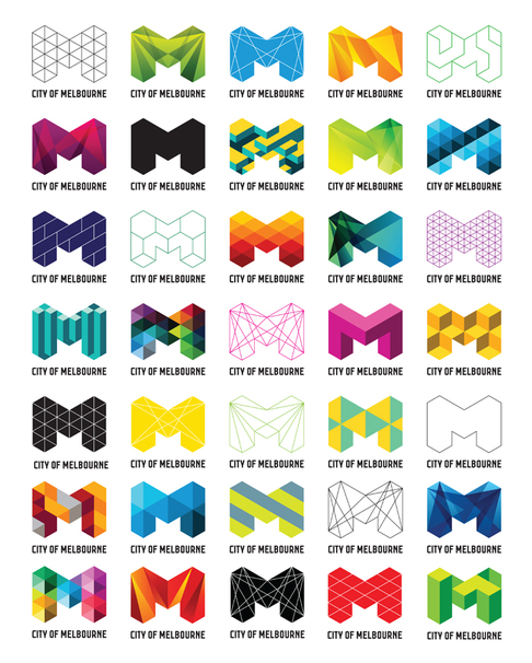 City of Melbourne logo variations