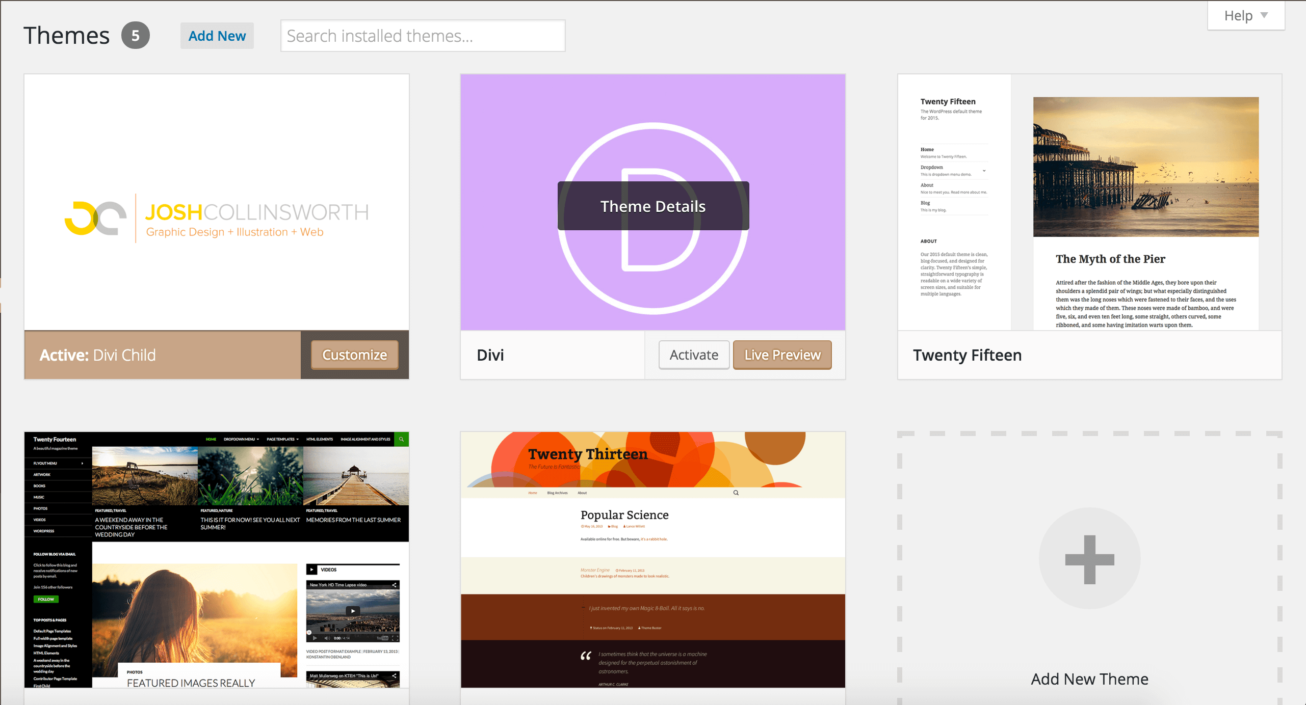 Demonstration of how a screenshot.png will look in the theme selection screen