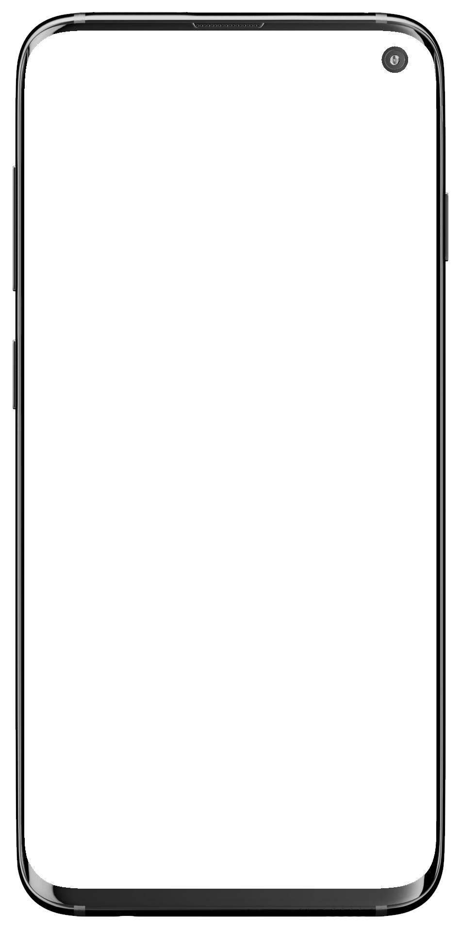 Mochup of a modern smartphone