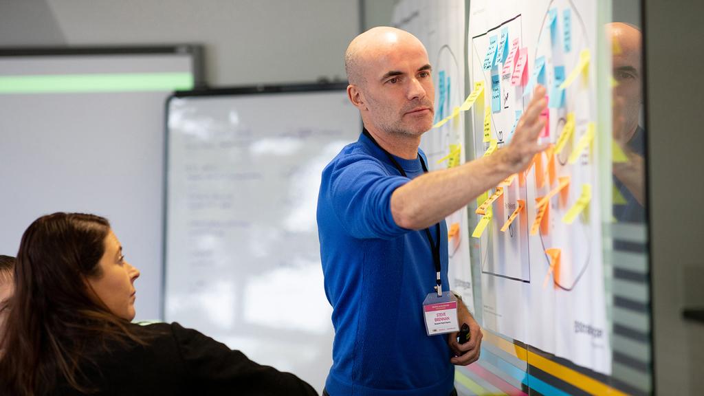 Steve Brennan delivering a digital strategy workshop for Bespoke