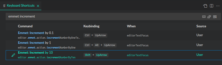 adding new shortcuts through keyboard settings ui