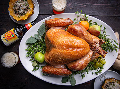 Brined Thanksgiving Turkey with Pyramid Apricot Ale