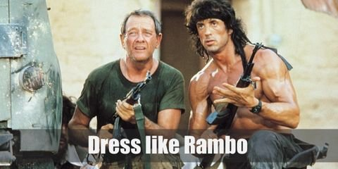 Rambo's outfit has become so iconic that it can be synonymous to being 'brave.' His simple outfit of black pants, tactical boots, and a rifle is something that most people would recognize anywhere.
