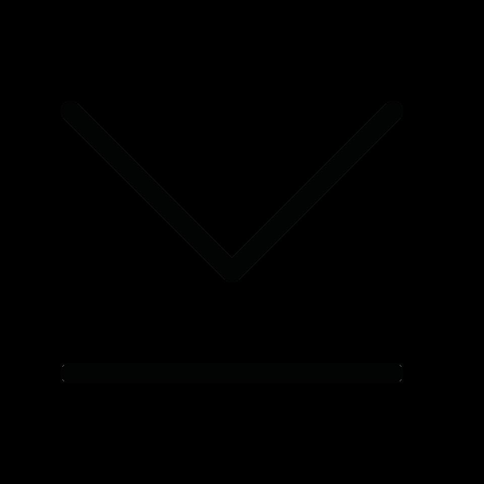 Arrow simple end down