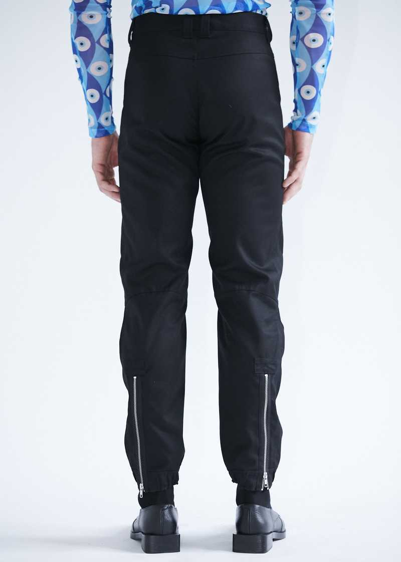 Yolanda biker trousers black for men and women. GmbH SS20 collection.