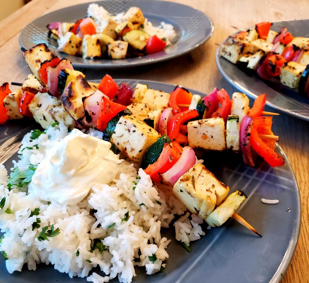 Mediterranean Skewers with Tofu | Let's Talk Vegan