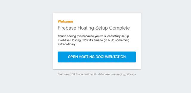 Hosting Firebase