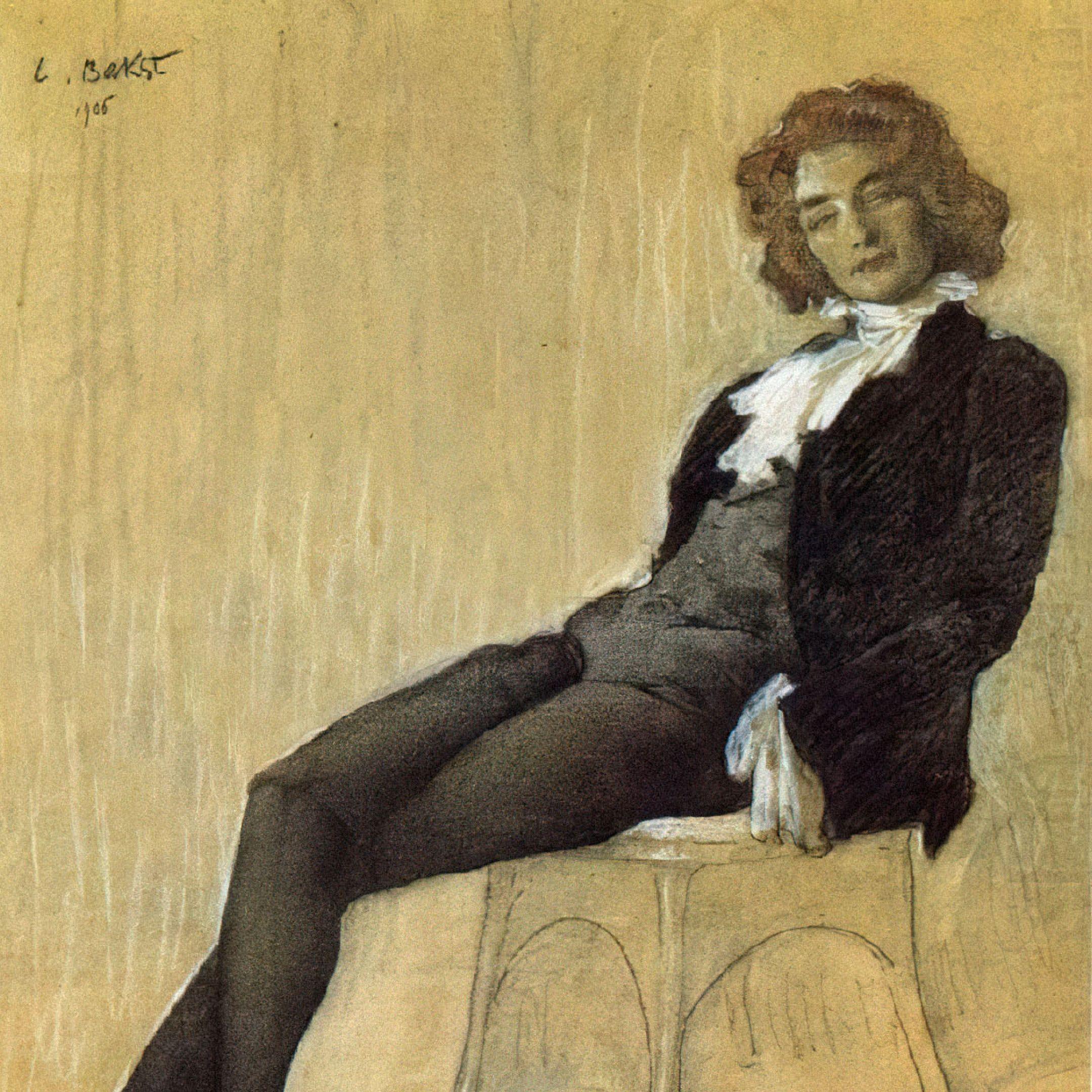 Портрет Зинаиды Гиппиус, которая сознательно использовала мужские псевдонимы. Художник Леон Бакст, 1906год