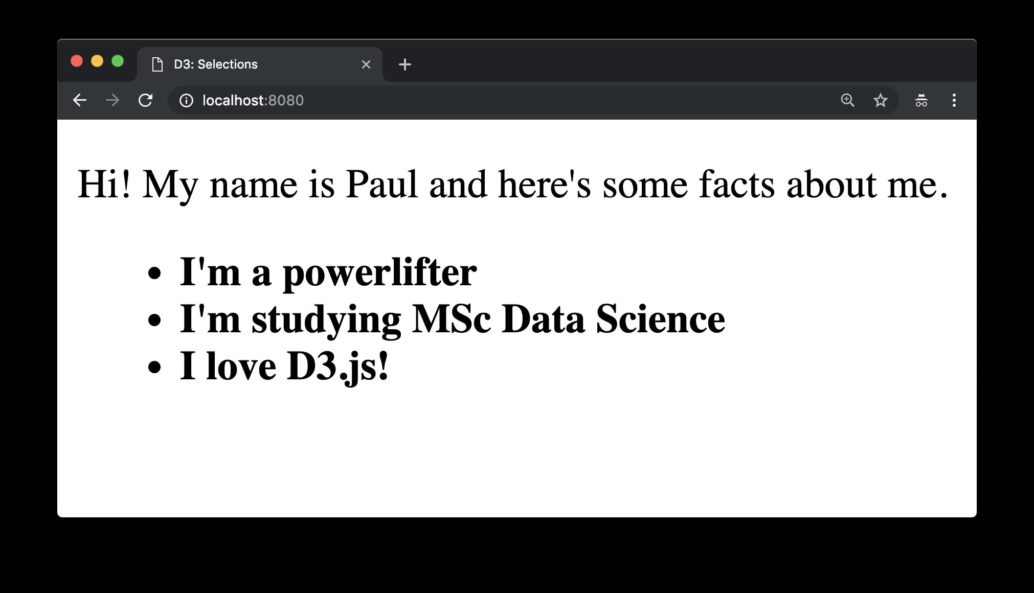vanilla JavaScript DOM selection