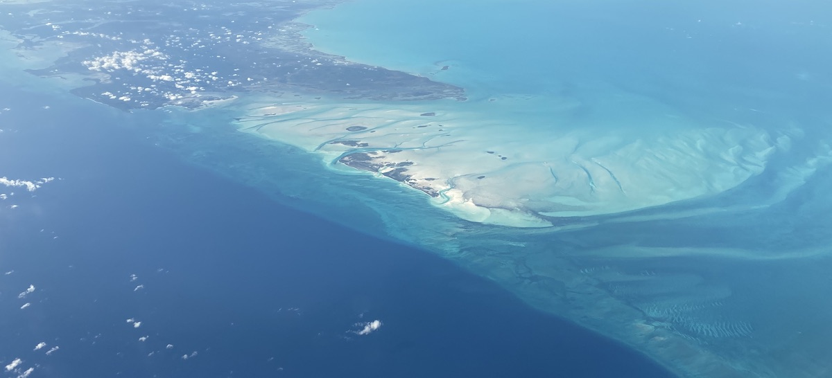 Andros Island's north tip, Joulter Cay, and Long Cay