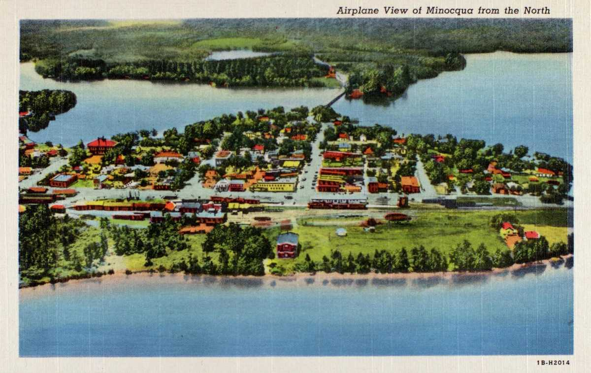 Minocqua, WI Postcard