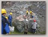 Virdin's Quarry, Mavis Grind. Copyright Shetland Geotours  » Click to zoom ->