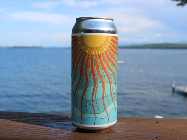 Sun Showers, a Double IPA brewed by Barreled Souls Brewing Company