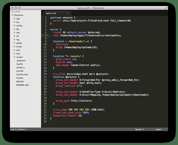 Nginx Syntax Highlighting