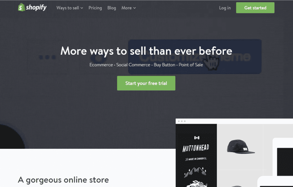 2. Shopify - sites built with Ruby on Rails