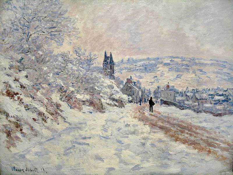 Monet's La route de Vétheuil, effet de neige was sold by Christie's New York for $11.44 million in May 2017