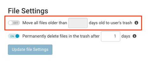 File Archive Settings