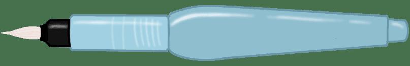 Desenho de uma caneta water brush