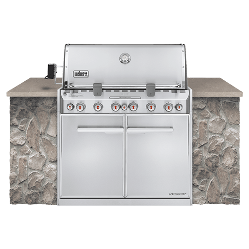 BBQ Weber Série Summit S-660 Encastrable Acier inoxydable Gaz Naturel