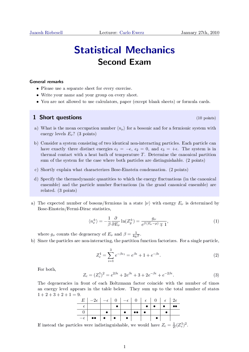 Statistical Physics   janosh io
