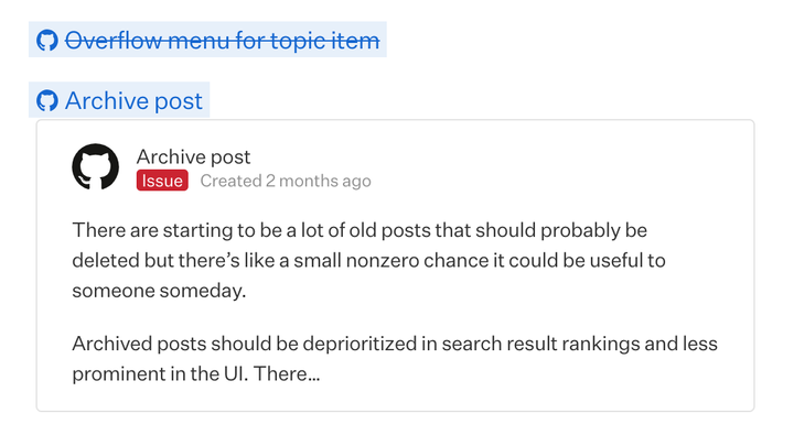 Mention Issues and Pull Requests
