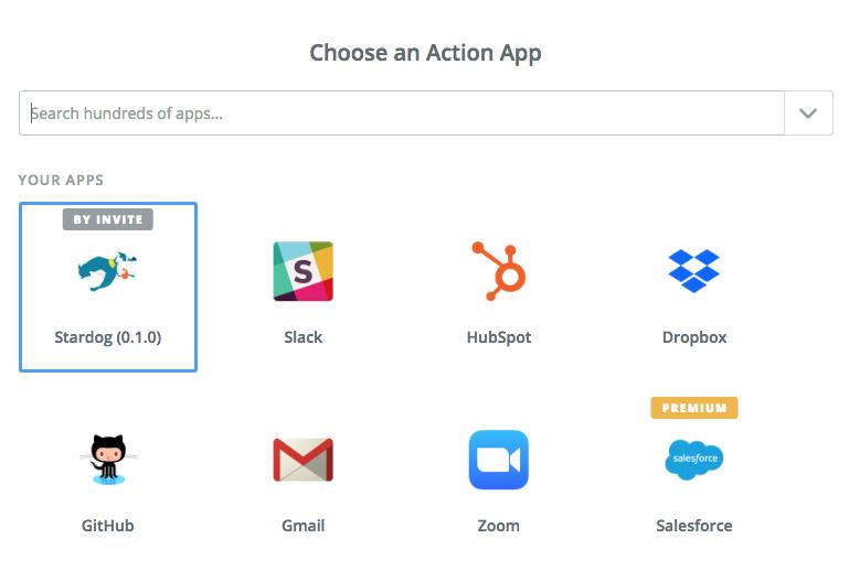 Stardog in list of apps