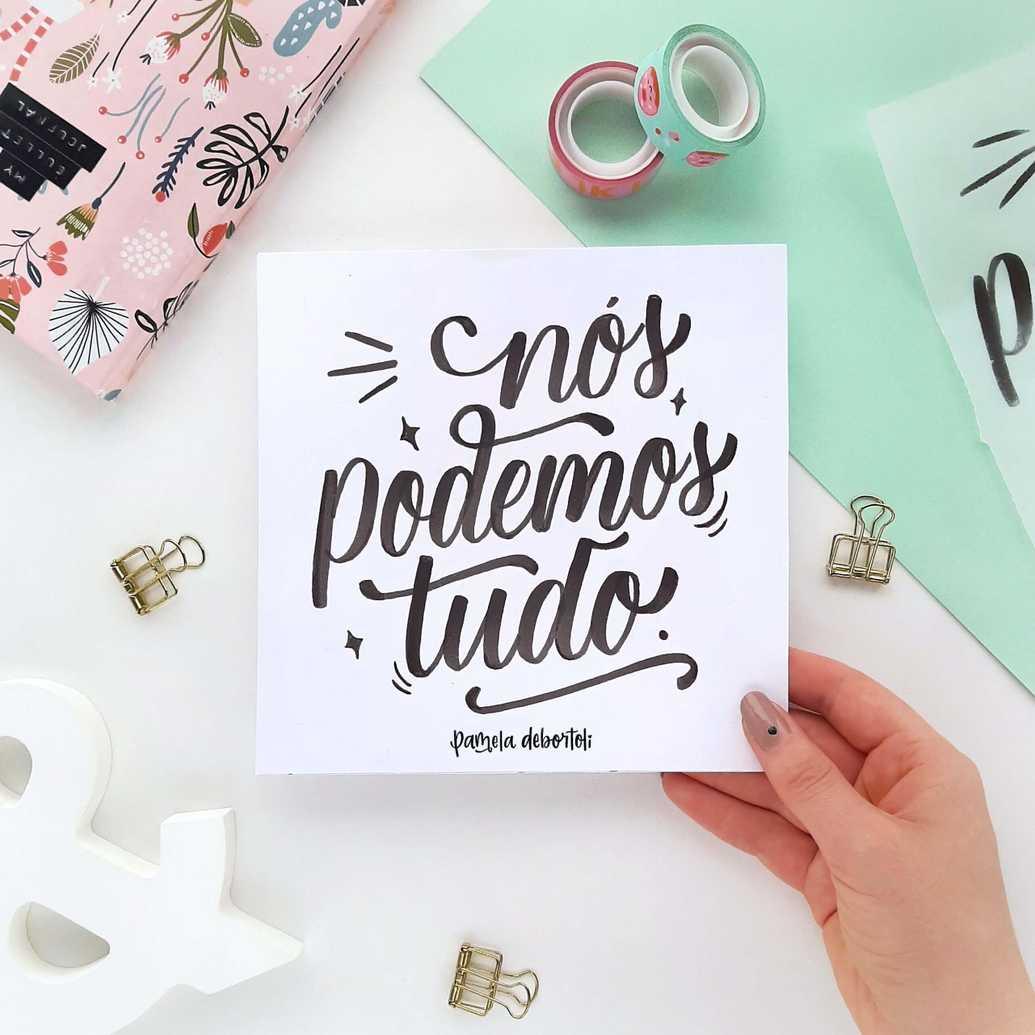 Outra arte com a técnica de brush lettering
