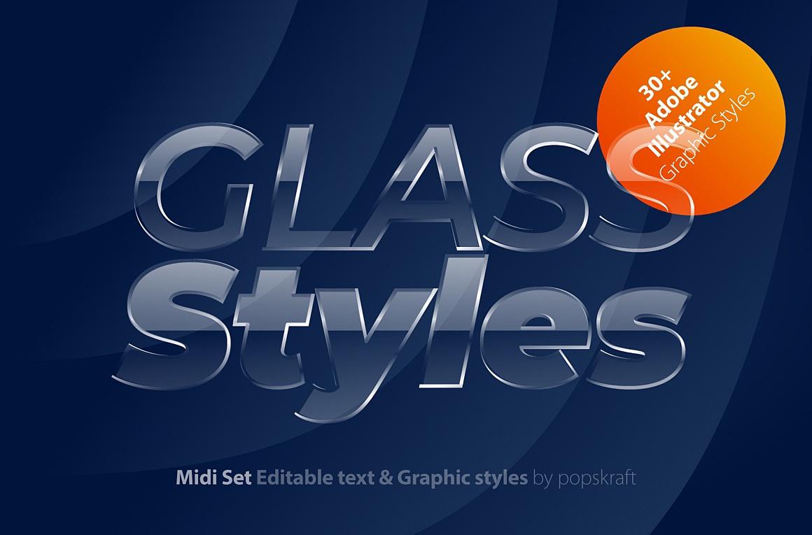 Glass Adobe Illustrator Styles images/glass_1_cover.jpg