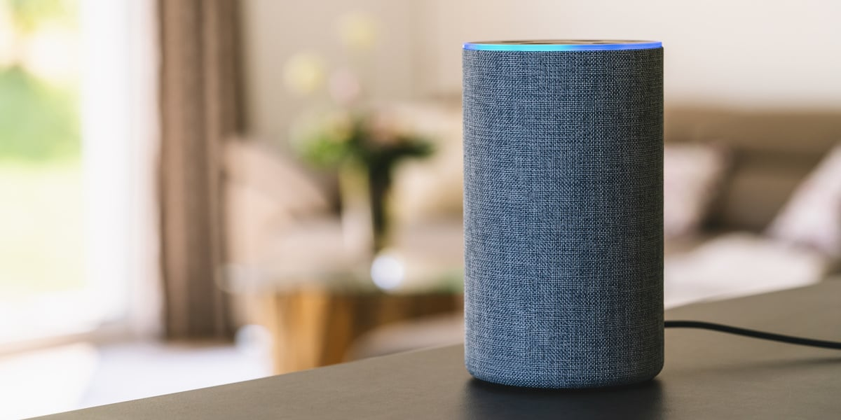 A Google Home voice device