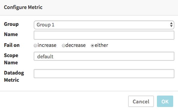 DataDog Metric Dialog