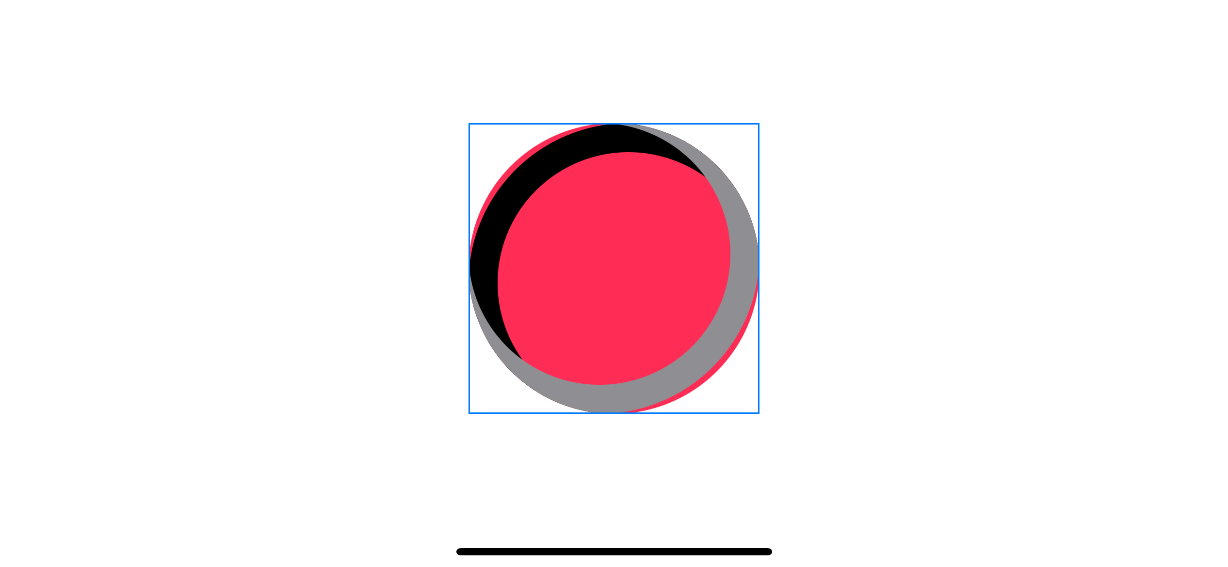 Clip a shadow with a circle's shape.
