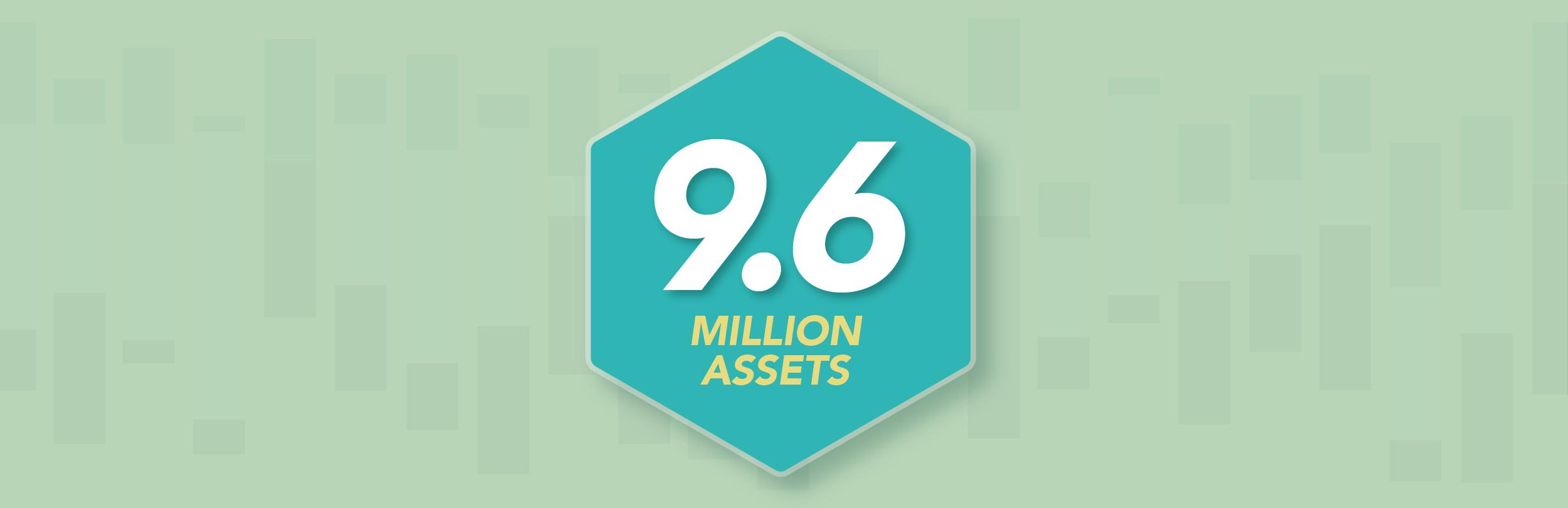 9.6 million assets