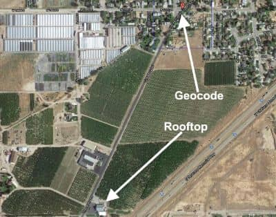 Less than Accurate Rooftop Geocodes