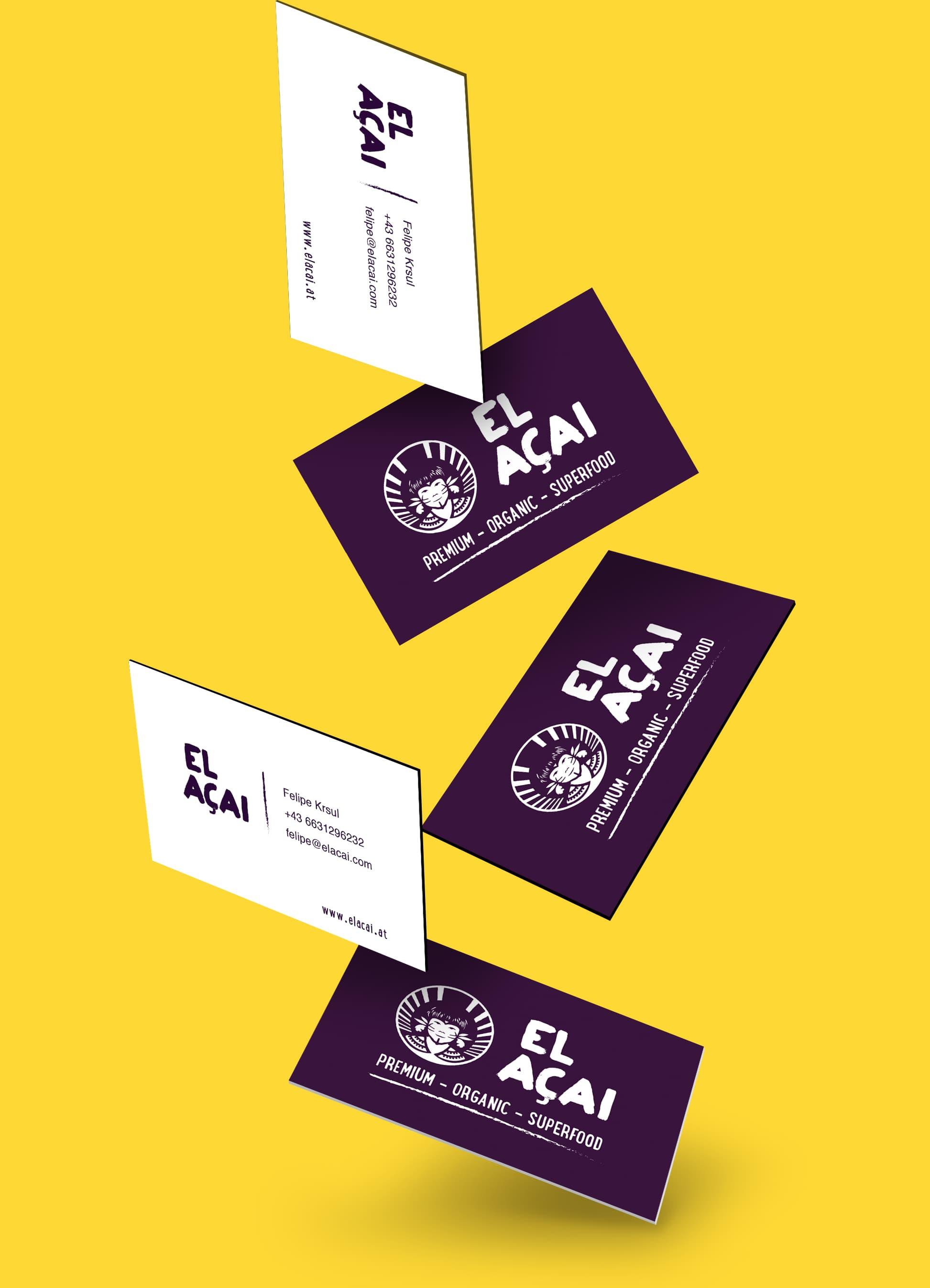 El Acai Europe Business Cards