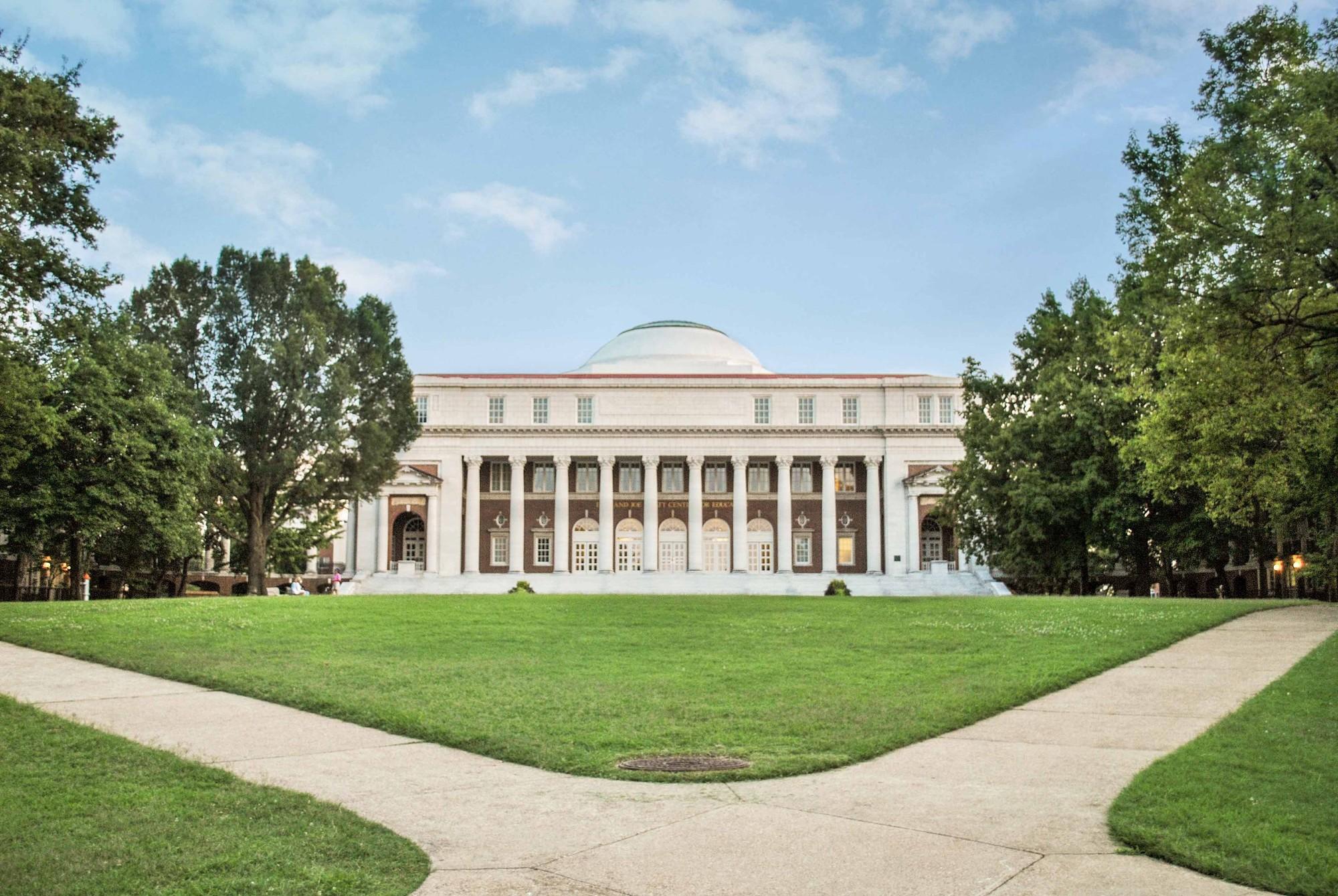 Quad entrance to Peabody College's Wyatt Center on the Vanderbilt University campus