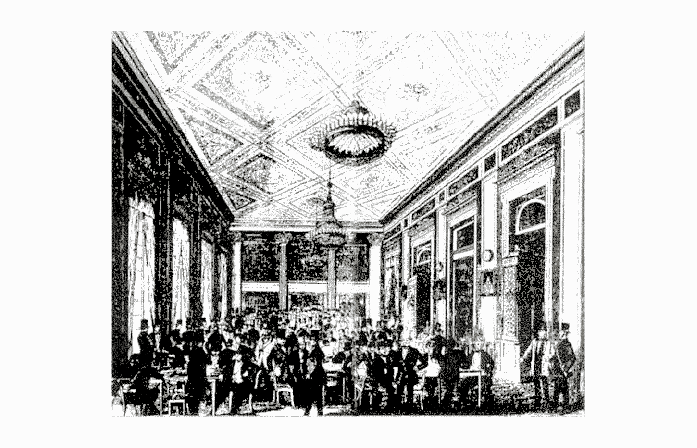 Лейпцигская книжная ярмарка, 1800. Источник: semanticscholar.org
