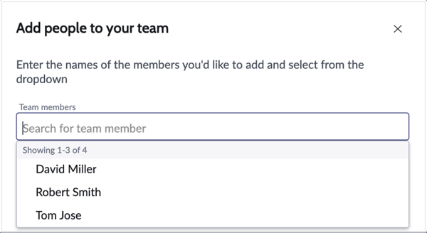Add an existing user.