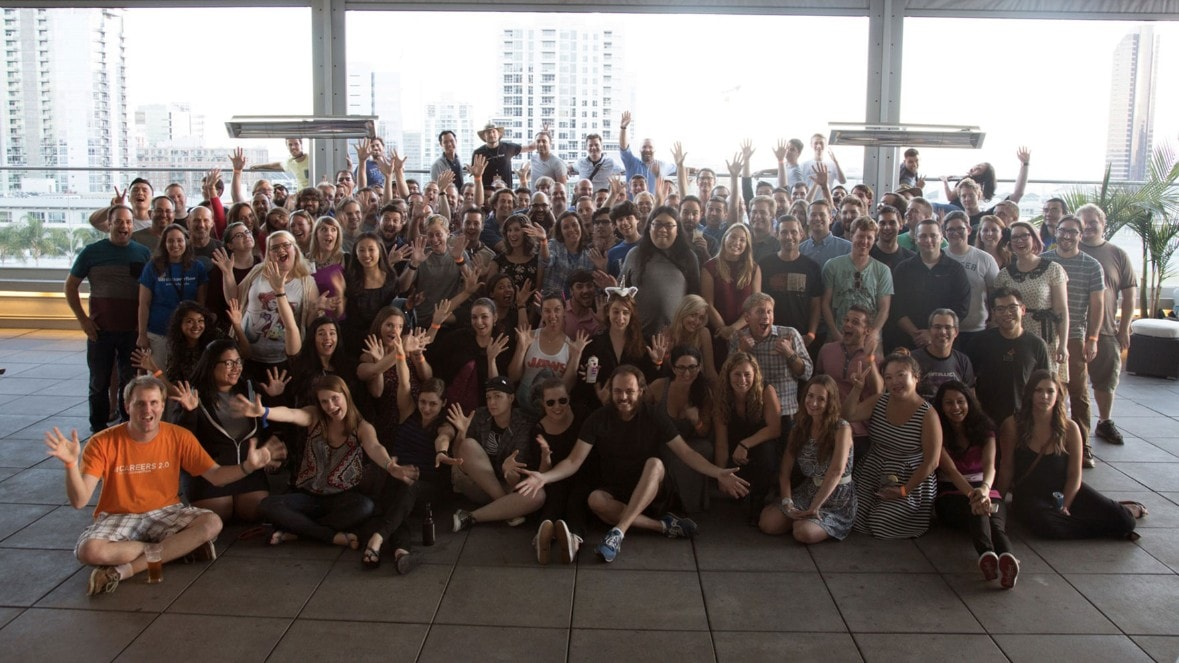 Group photo from the San Diego Stack Overflow meetup.