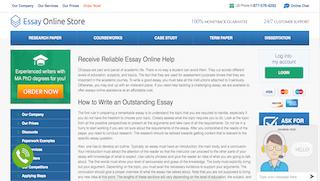 essayonlinestore.com main page
