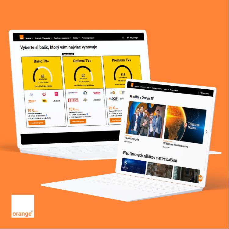 Orange TV home page