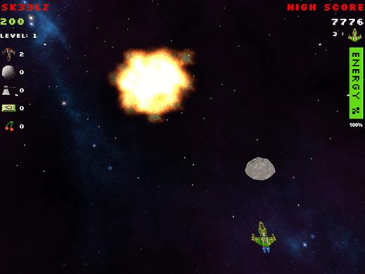Screenshot of Space Jawns gameplay.