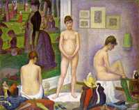 'Models (Les Poseuses)' by Seurat, 1886–88, Barnes Foundation, Philadelphia