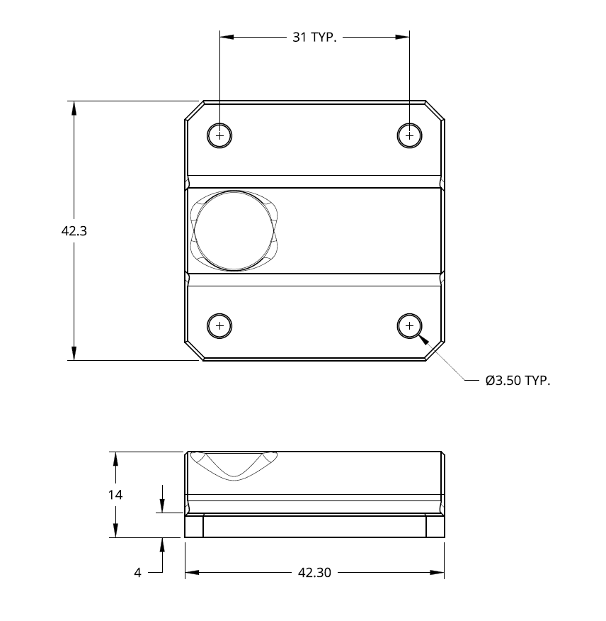 ENP DyzeXtruder Cooling Block Drawings