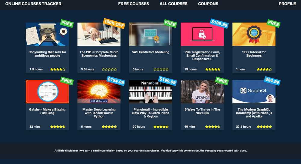 Online Courses Tracker