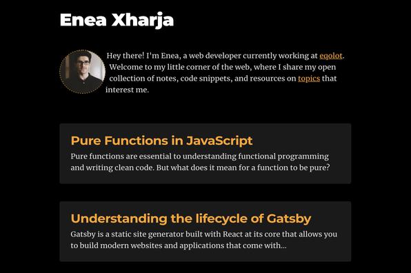 Screenshot of Enea Xharja