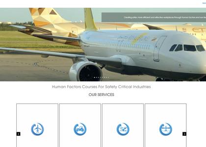 Matrix Human Factors Website Screenshot