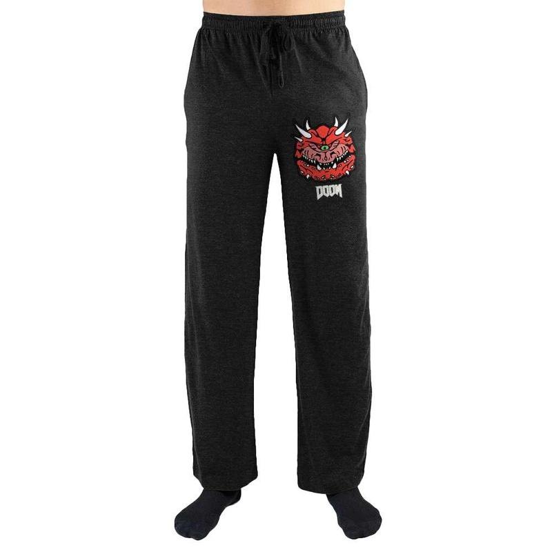 Doom Game Cacodemon Print Mens Loungewear Lounge Pants