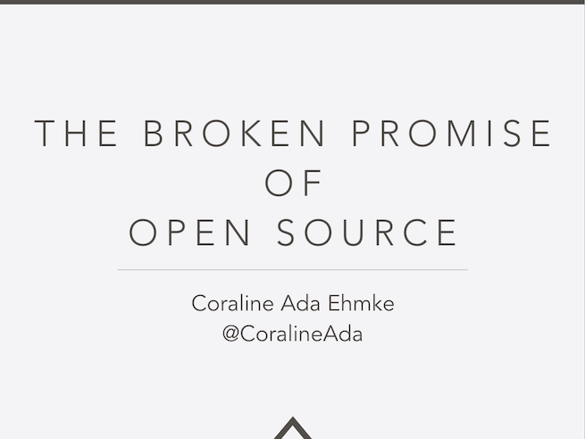 The Broken Promise of Open Source