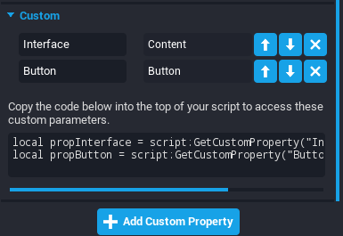 Toggle On Button Custom Properties